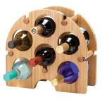 Oenophilia Bamboo Arch 6-Bottle Wine Rack