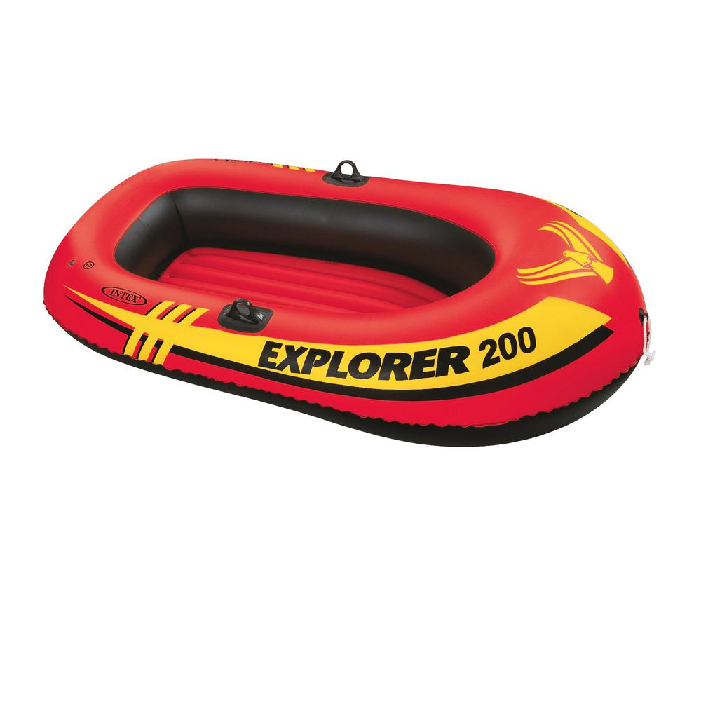 Intex Recreation Explorer 200 2-Person Inflatable Floating Boat Pool Float, Multi