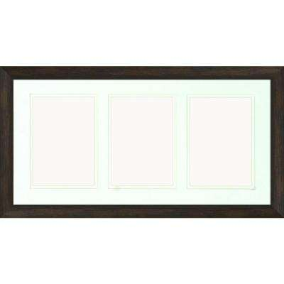 3-Opening Holds (3) 5 in. x 7 in. Matted Brown Photo Collage Frame (Set of 2)