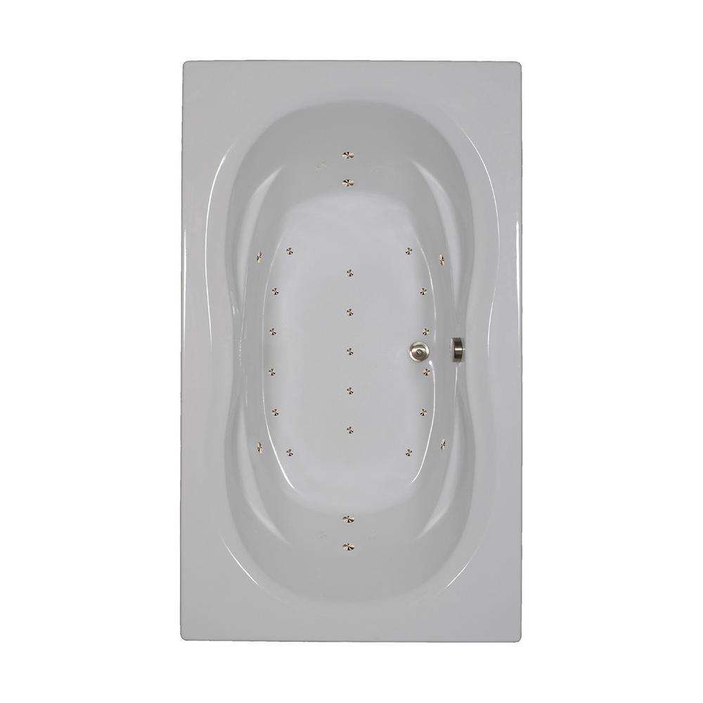 72 in. Acrylic Rectangular Drop-in Air Bathtub in Black