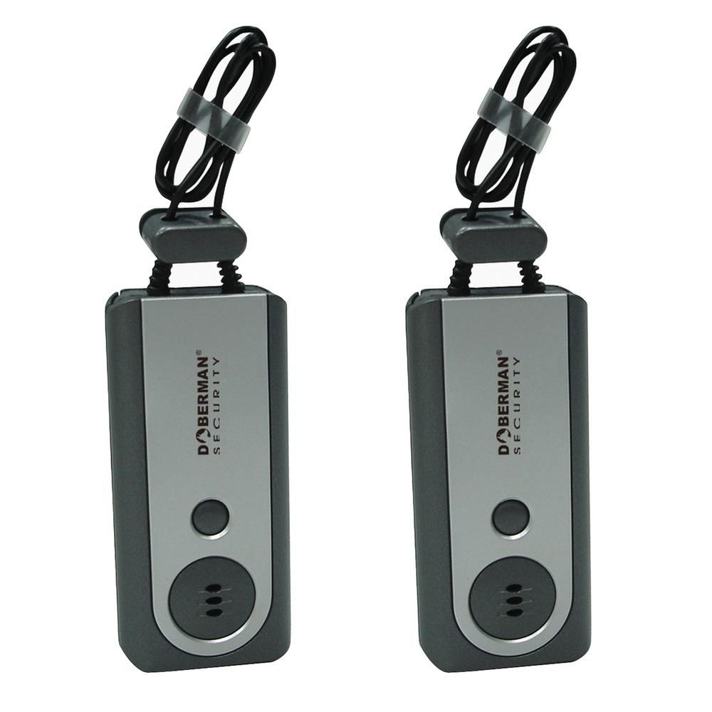 Doberman Portable Door Alarm with Flashlight (2-Pack)