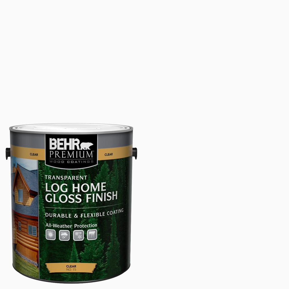 Exterior: BEHR Premium 1 Gal. Clear Gloss Finish Log Home-01501