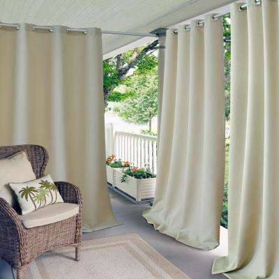 Semi-Opaque Connor 52 in. W x 108 in. L Indoor/Outdoor Solid Grommet Window Curtain Taupe