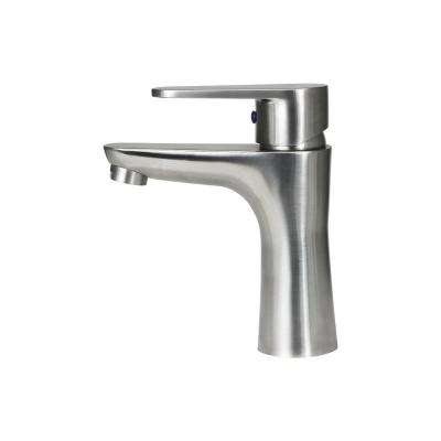6.3 in. Single Hole Single-Handle Vessel Bathroom Faucet in Stainless Steel