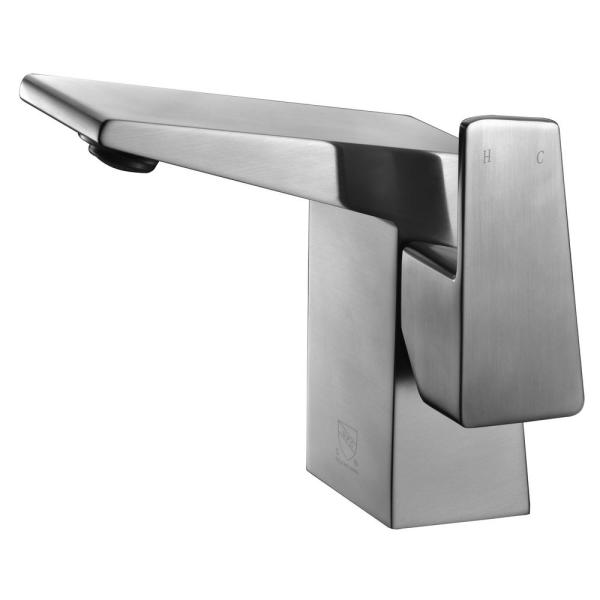 AB1470-BN Single Hole Single-Handle Bathroom Faucet in Brushed Nickel