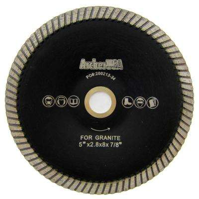 5 in. Turbo Contour Diamond Blade for Curved Cutting