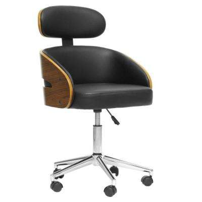 Kneppe Black Faux Leather Office Chair