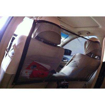 Squared Easy Hook Protective Mesh Folding Backseat Car Seat Safety Barrier For Dogs Cats and Children