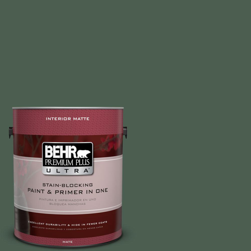 1 gal. #450F-7 Hampton Green Flat/Matte Interior Paint