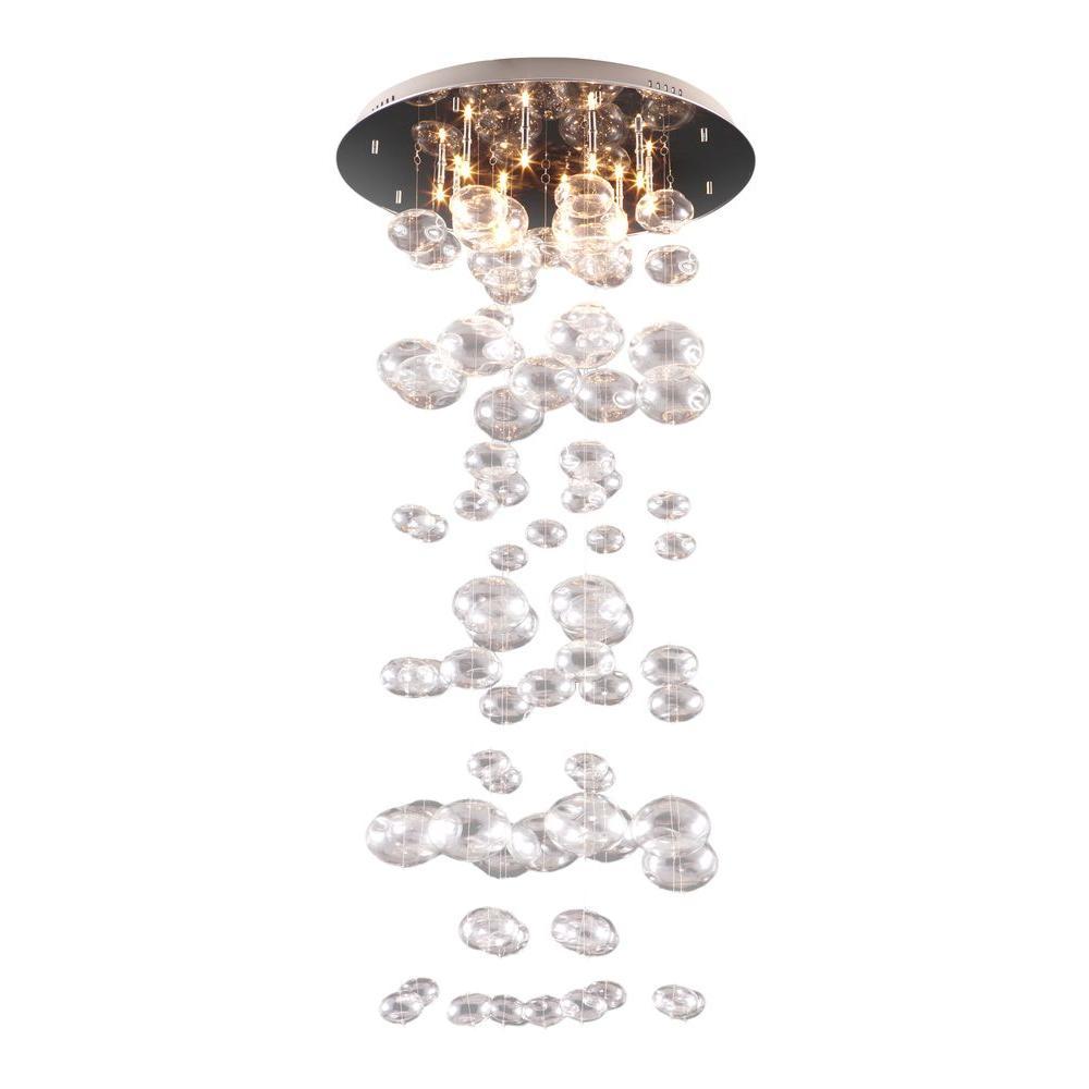 Inertia 10-Light Clear Ceiling Pendant