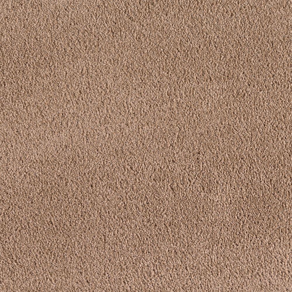 SoftSpring Cashmere I - Color Fawn Texture 12 ft. Carpet