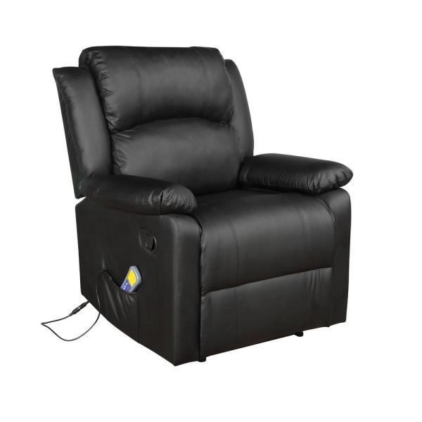 Super Merax Black Power Massage Reclining Chair With Heat And Andrewgaddart Wooden Chair Designs For Living Room Andrewgaddartcom
