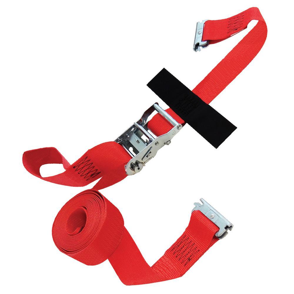 CINCH STRAP 2x8 RATCHET with Hook /& Loop storage fastener Snap-Loc Cargo SLTC208RR USA!