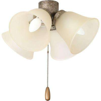 AirPro Collection 4-Light Pebbles Ceiling Fan Light
