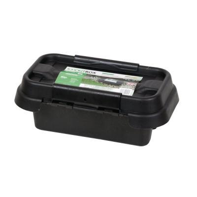 11 in. Weatherproof Powercord Connection Box, Black