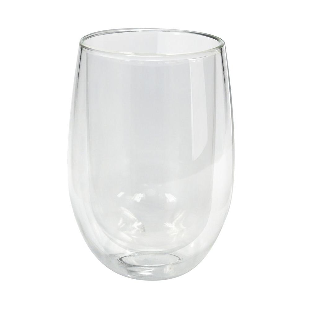 double walled glasses epicureanist wall tumblers ep dblgls the home depot 10769