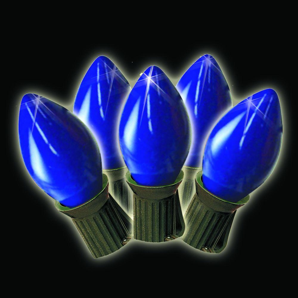 brite star 25 light blue old fashioned string lights set of 2