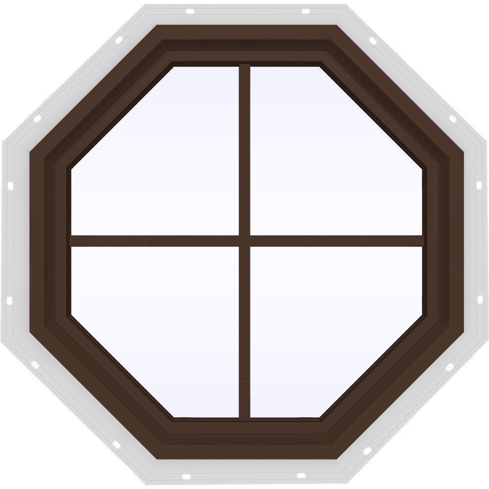 23.5 in. x 23.5 in. V-4500 Series Fixed Octagon Vinyl Window