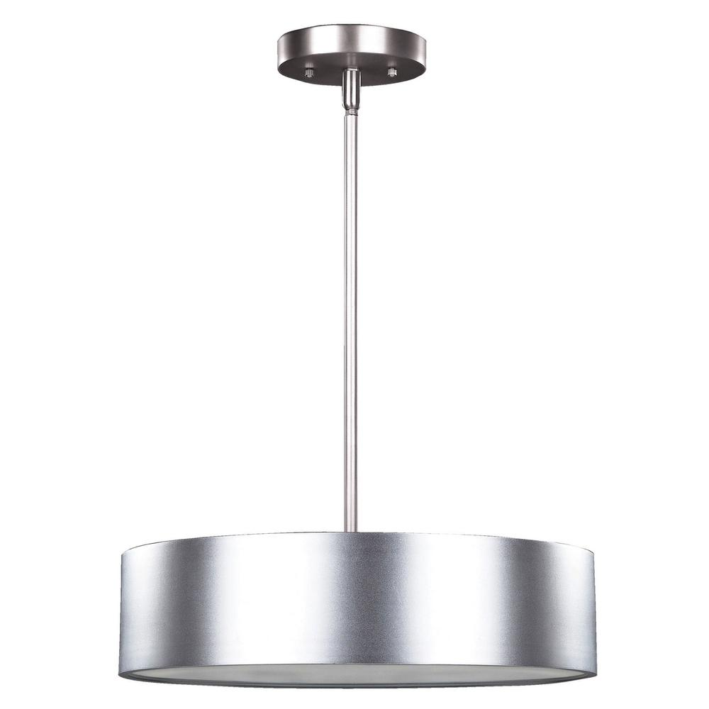 CANARM Dexter 3-Light Aluminum Pendant With Frosted Glass