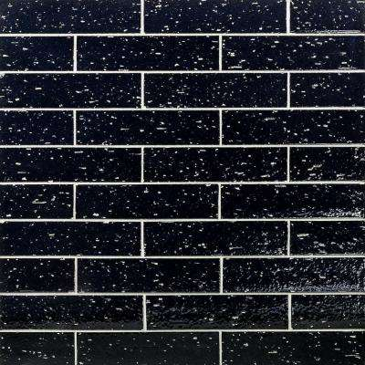 Rhythmic Caviar 2 in. x 9 in. 12mm Glazed Clay Subway Tile (30-piece 4.63 sq. ft. / box)