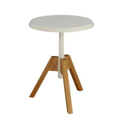Lumina Natural and White End Table