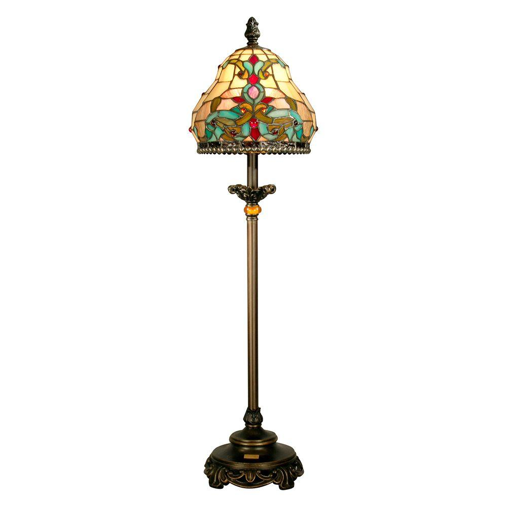 Dale Tiffany 32 in. Topaz Baroque Art Glass Buffet Lamp-DISCONTINUED
