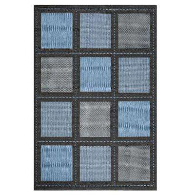 Summit Blue 3 ft. 9 in. x 5 ft. 5 in. Area Rug