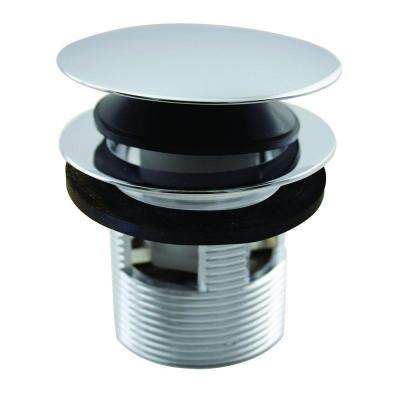 1-1/2 in. NPSM Integrated Overflow Round Tip-Toe Bath Drain in Polished Chrome