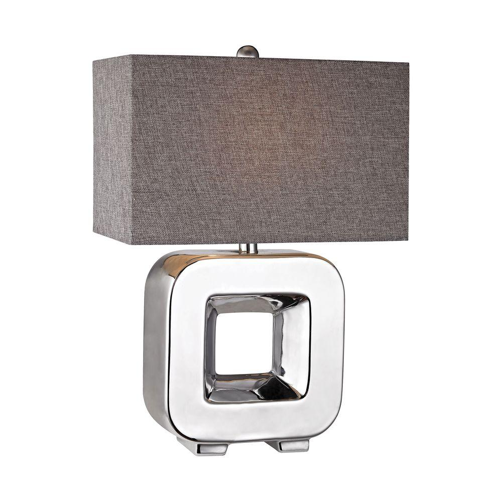 Titan lighting 22 in chrome open cube table lamp tn for Table 6 2 ar 71 32