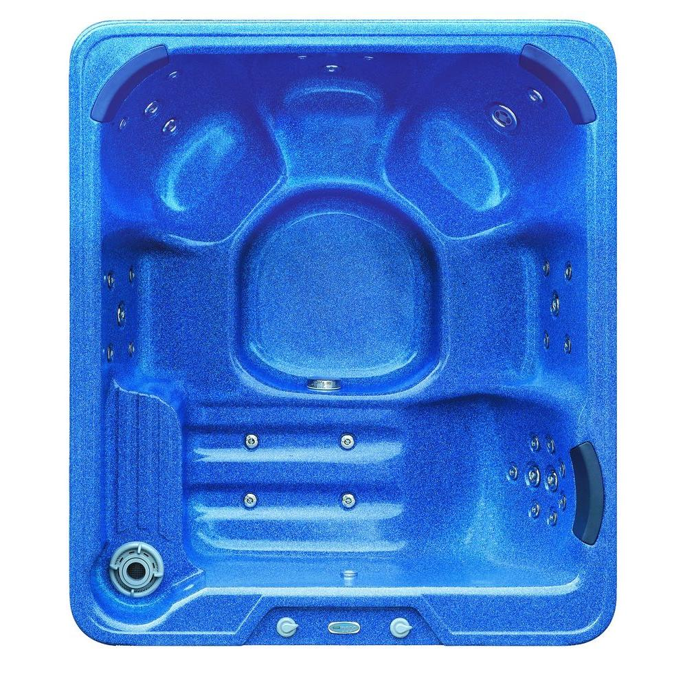 Aston 6-Person 32-Jet Hot Tub Spa with Lounger in Baltic Blue-HT619B ...