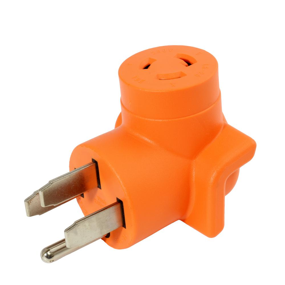 Locking Adapter 14-50P 50 Amp 125-Volt/250-Volt Range/RV/Generator Plug to