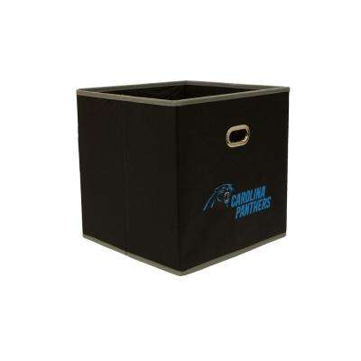 Carolina Panthers NFL Store-Its 10-1/2 in. W x 10-1/2 in. H x 11 in. D Black Fabric Drawer