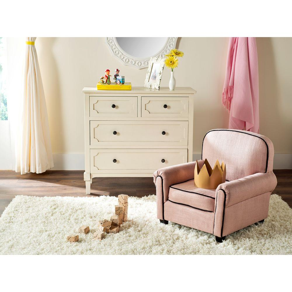 Safavieh Tiny Tycoon Pink Upholstered Kids Chair