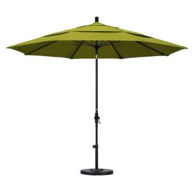 11 ft. Fiberglass Collar Tilt Double Vented Patio Umbrella in Ginkgo Pacifica