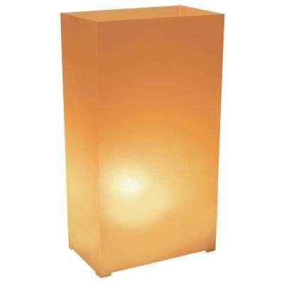 3.5 x 10.5 Tan Plastic Luminary (100- Pack)