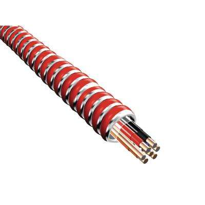 250 ft. 16/4-Gauge Fire Alarm Control Cable Coil with Red Armor