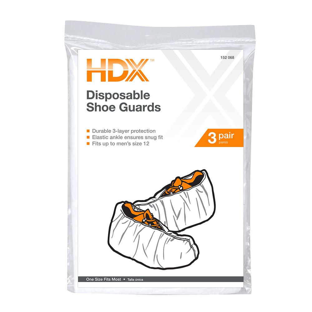 HDX Disposable Shoe Guards (3-Pairs)