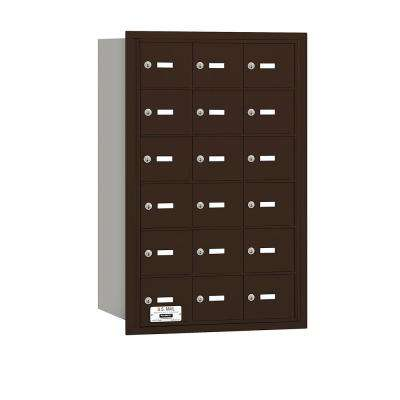 Bronze USPS Access Rear Loading 4B Plus Horizontal Mailbox with 18A Doors