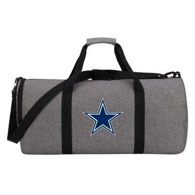 Cowboys Wingman 10 in. Heathered Gray Duffle Bag