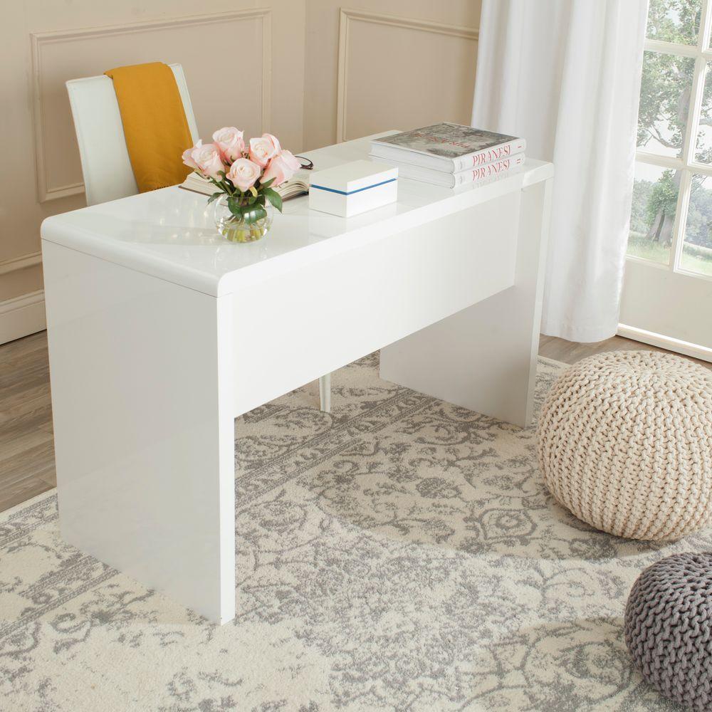 Safavieh Kaplan White Desk FOX2201A - The Home Depot