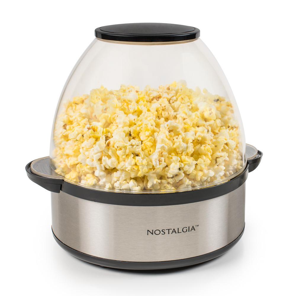 Electric Popcorn Maker ~ Nostalgia stirring popcorn popper sp ss the home depot