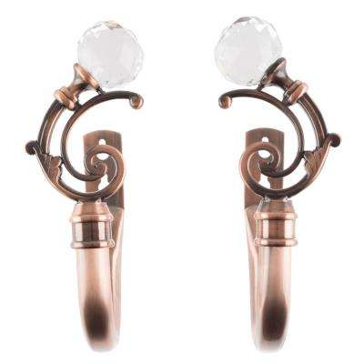 Crystal Ball Holdback Pair in Copper