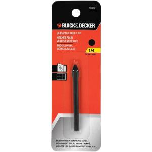 Black & Decker 1/4 inch x 2-1/4 inch Carbide Glass/Tile Drill Bit by BLACK+DECKER