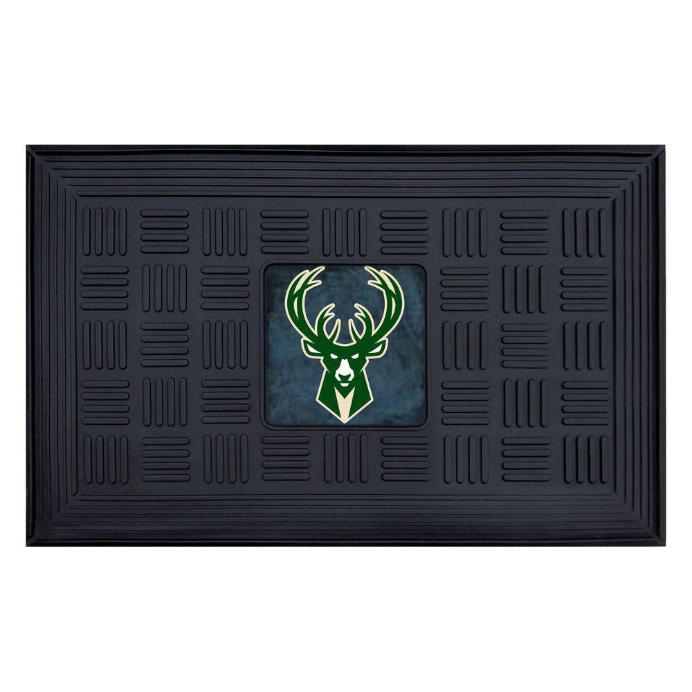 FANMATS NBA Milwaukee Bucks 1 ft. 7 in. x 2 ft. 6 in. Vinyl Door Mat-11416 - The Home Depot