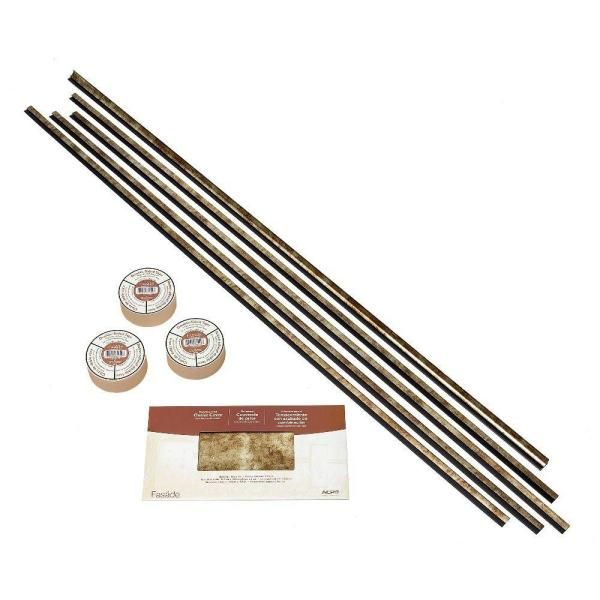Fasade Large Profile Backsplash Accessory Kit with Tape in Bermuda Bronze