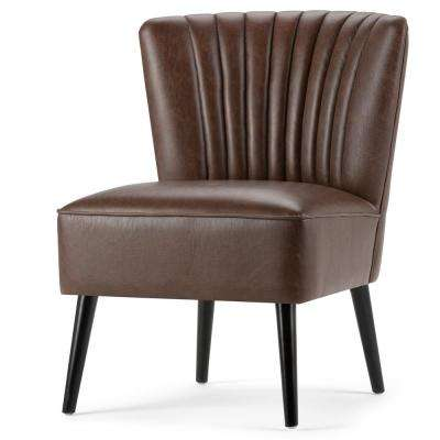 Hollyford Distressed Brown Air Leather Side Chair