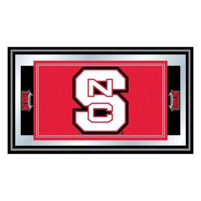 North Carolina State 15 in. x 26 in. Black Wood Framed Mirror