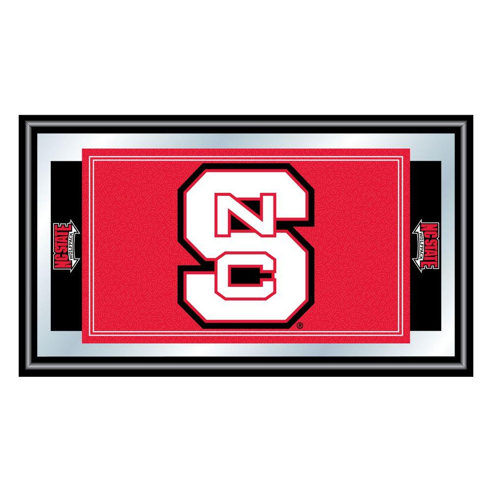 North Carolina State 15 in. x 26 in. Black Wood Framed