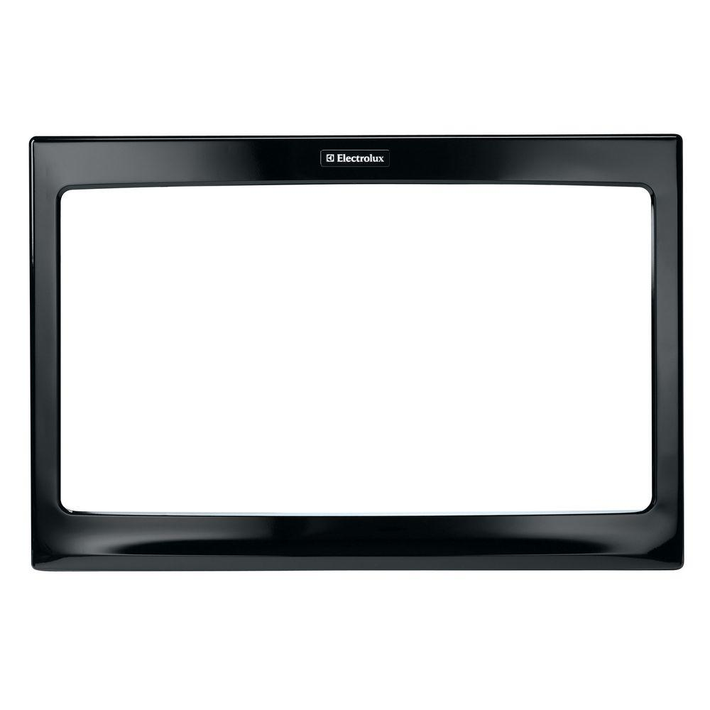 27 in. Trim Kit for Built-In Microwave Oven in Black