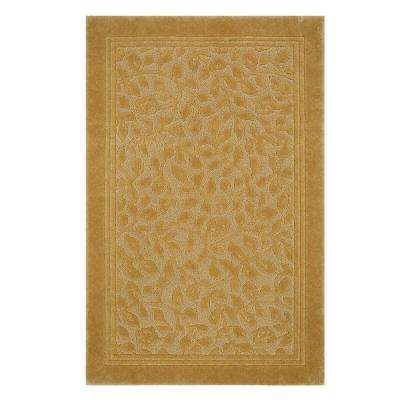 Wellington 5 ft. x 7 ft. Nylon Bath Rug in Gold